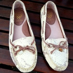 Vince Camuto Pinna Loafer Snakeskin Leather 10M